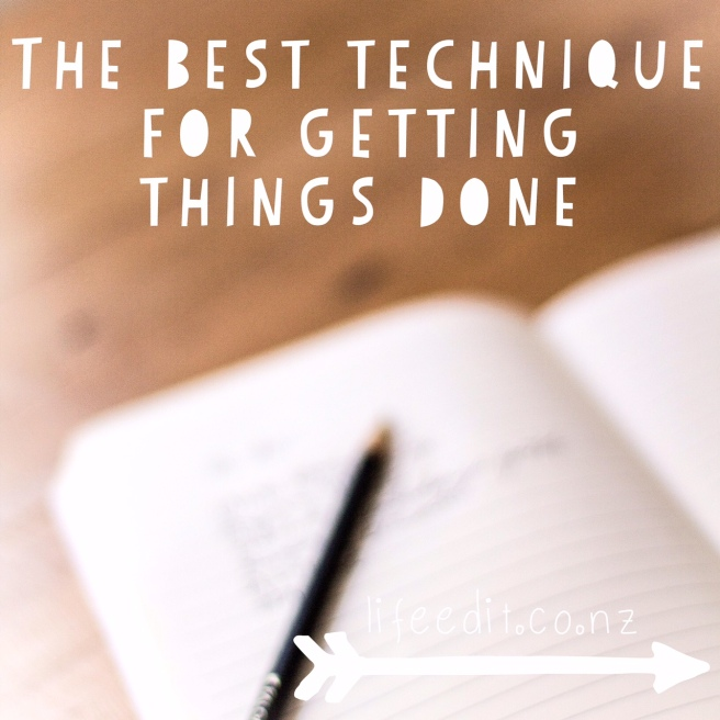 The Best Technique for Getting Things Done