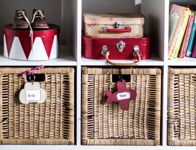 Kids treasure baskets, and toy suitcases